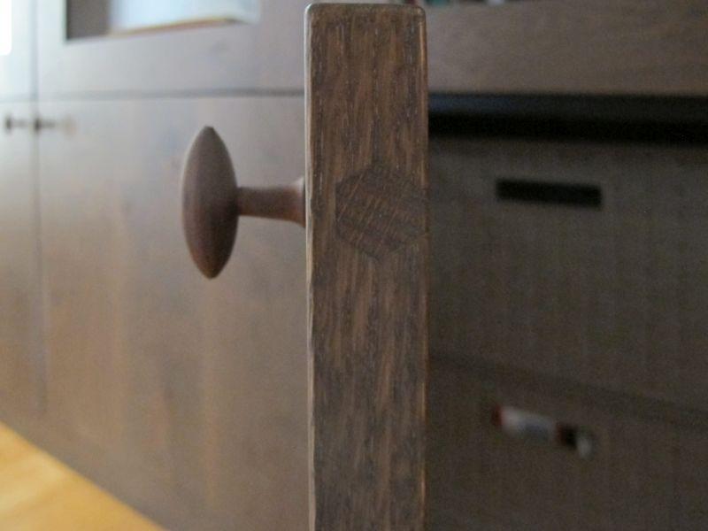 Detail deurknop meubelknop