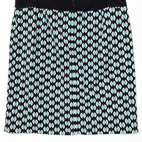 Skirt - Abstract; Green, Black, White