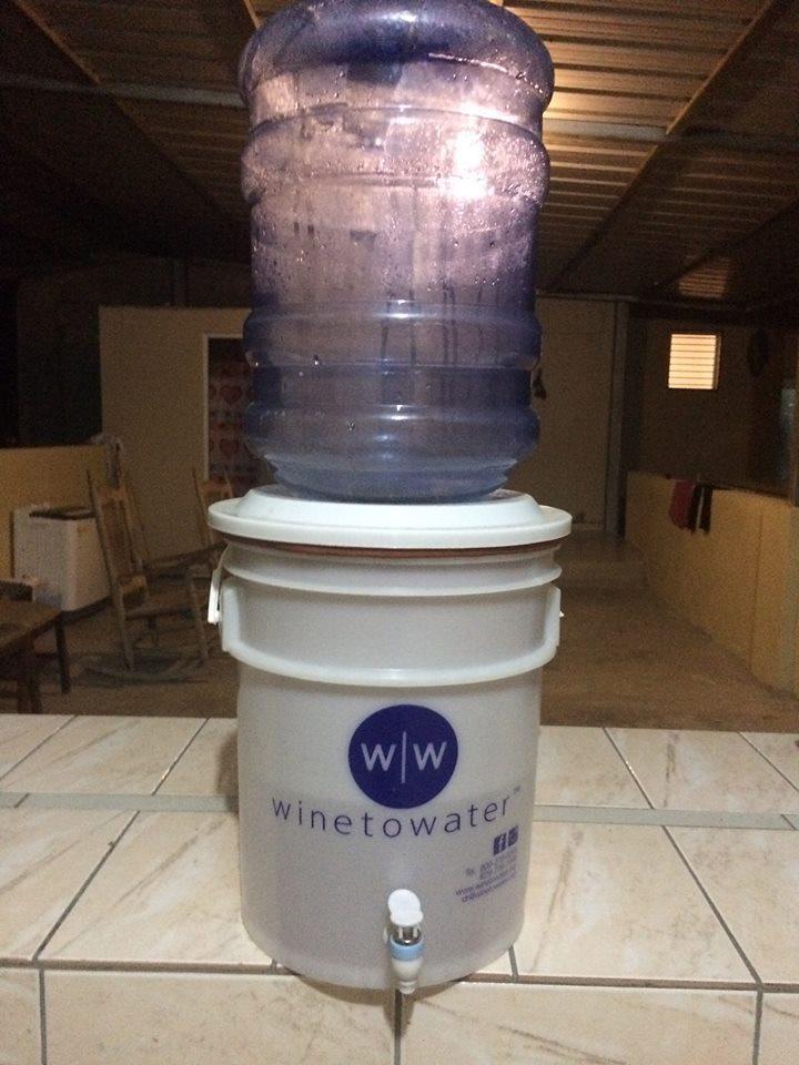 water filter setup