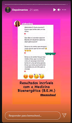 Depoimento B.E.M. School - Medicina Bioenergética