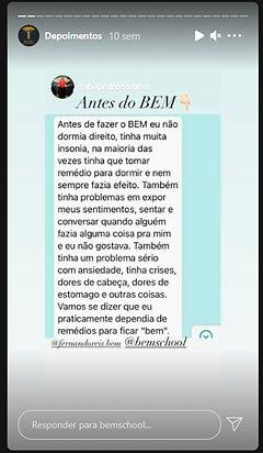 Depoimento B.E.M. School