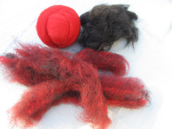 Red cheviot & Newf fur
