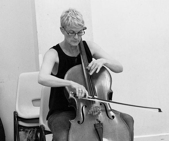 Tori Norman playing cello