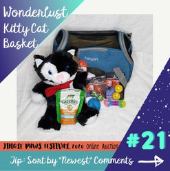 #21 Wonderlust Kitty Cat Basket