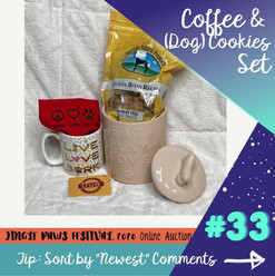 #33 Coffe & (Dog) Cookies Set