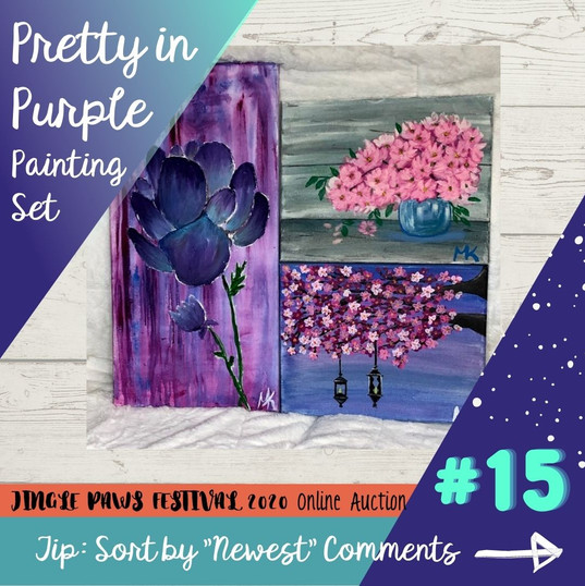 #15 Pretty in Purple Painting Set