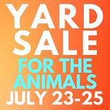 Yard Sale for the Animals
