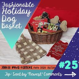 #25 Fashionable Holiday Dog Basket