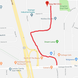 Spay Me Clinic Map from Cottage Grove Rd
