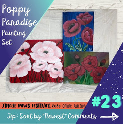 #23 Poppy Paradise Painting Set