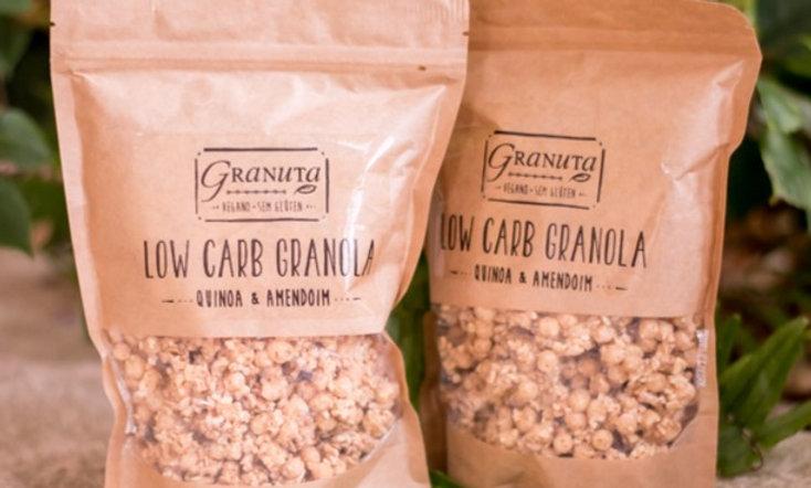 KIT -  3 pc Granola Low carb Quinoa e Amendoim 200g