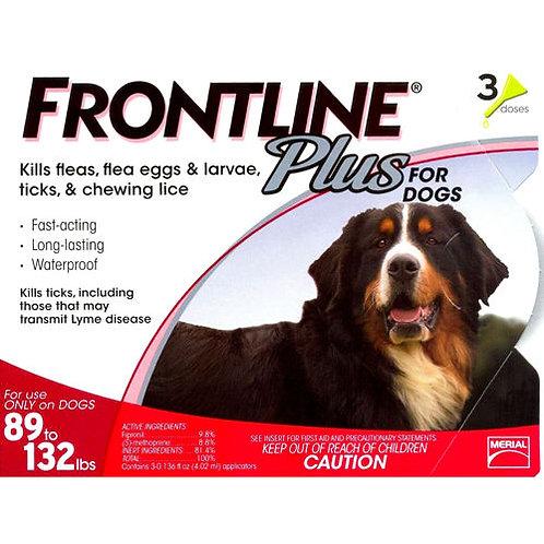 FRONTLINE PLUS FLEA & TICK 89-132 Lbs 3PK