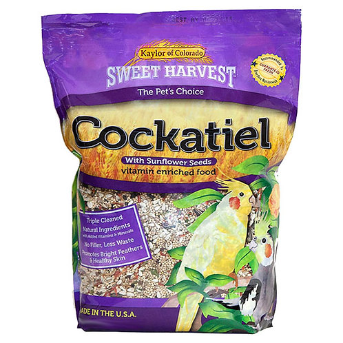 Sweet Harvest Cockatiel Food with Sunflower Seeds