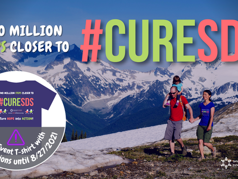 2021 Annual Global Virtual Fundraiser - Two Million Steps Closer to #CureSDS - Huge Success