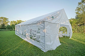 20x30 PE Sideview with Zippered Endwall.