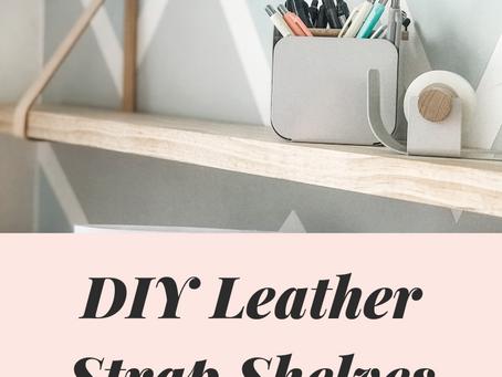 DIY Leather Strap Shelves