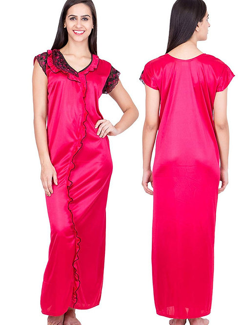 MGrandBear Satin Nighty For Women Bust Size upto 42 Inch
