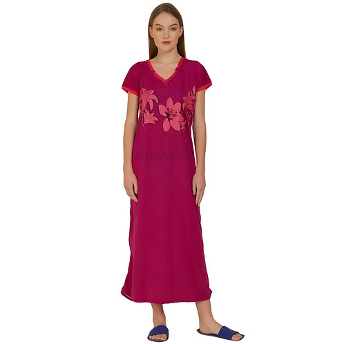 MGrandbear Women Viscose Nighty/Night Gown/Hosiery Cotton Nighty