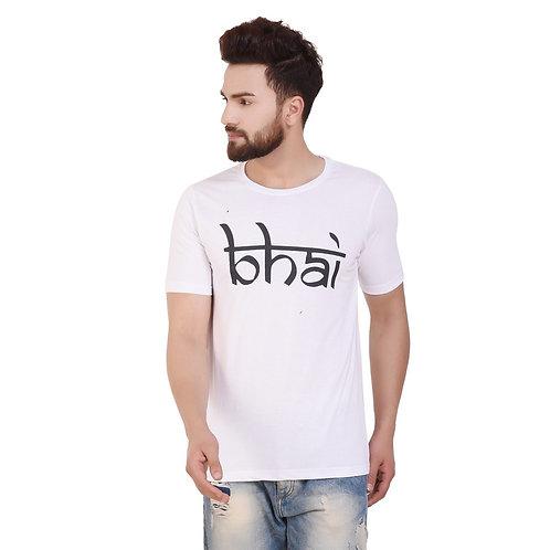 Bhai Printed Cotton T-shirt For Men