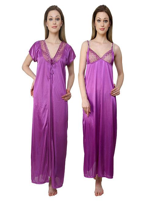 MGrandBear 2 pc Satin Nighty For Women