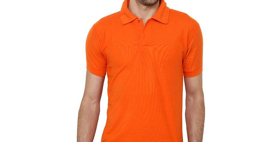 Half Sleeve Polycotton Polo Neck Tshirt For Men