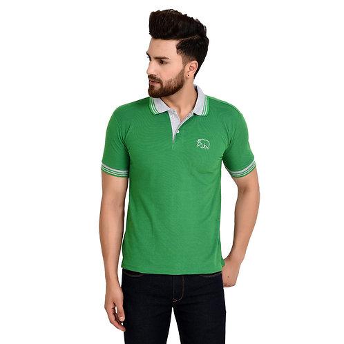 Grand Bear Contrast Collar T-Shirt For Men