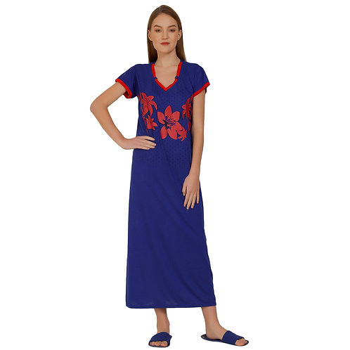MGrandbear Women Viscose Nighty/Night Gown/Hosiery Cotton Nighty Free Size