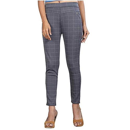 MGrandbear Checkered Pant For Women Waist Size 28 To 32 Inch