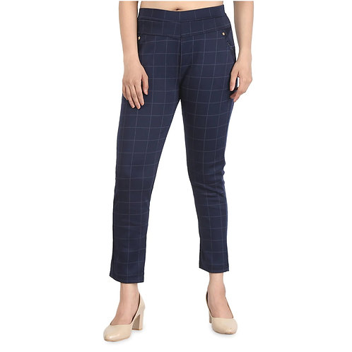 MGrandbear Checkered Pant For Women Waist Size 28 To 32 Inch