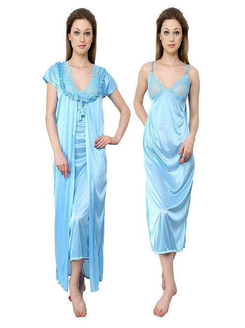 MGrandBear 2 pc Satin Nighty For Women
