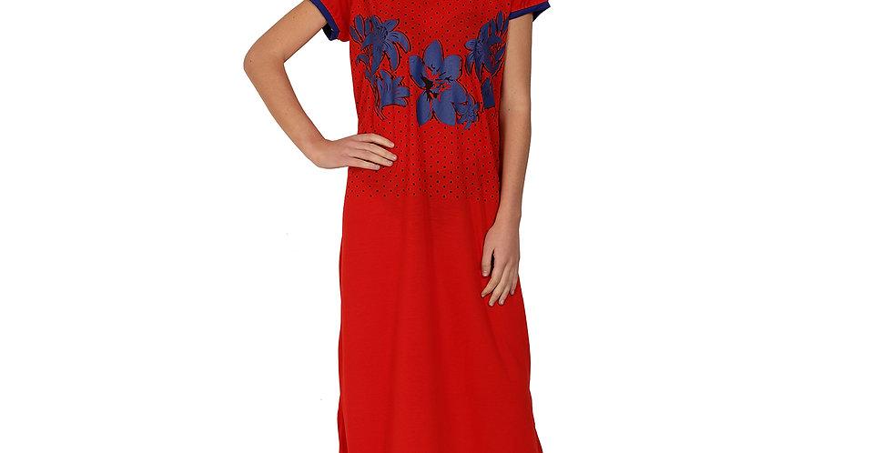 MGrandbear Women Viscose Nighty/Night Gown/Hosiery Cotton Nighty