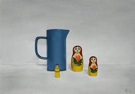 'Three russian dolls and a jug'