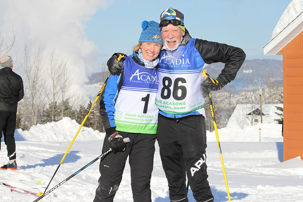 Reno and Becky at the finish of the race