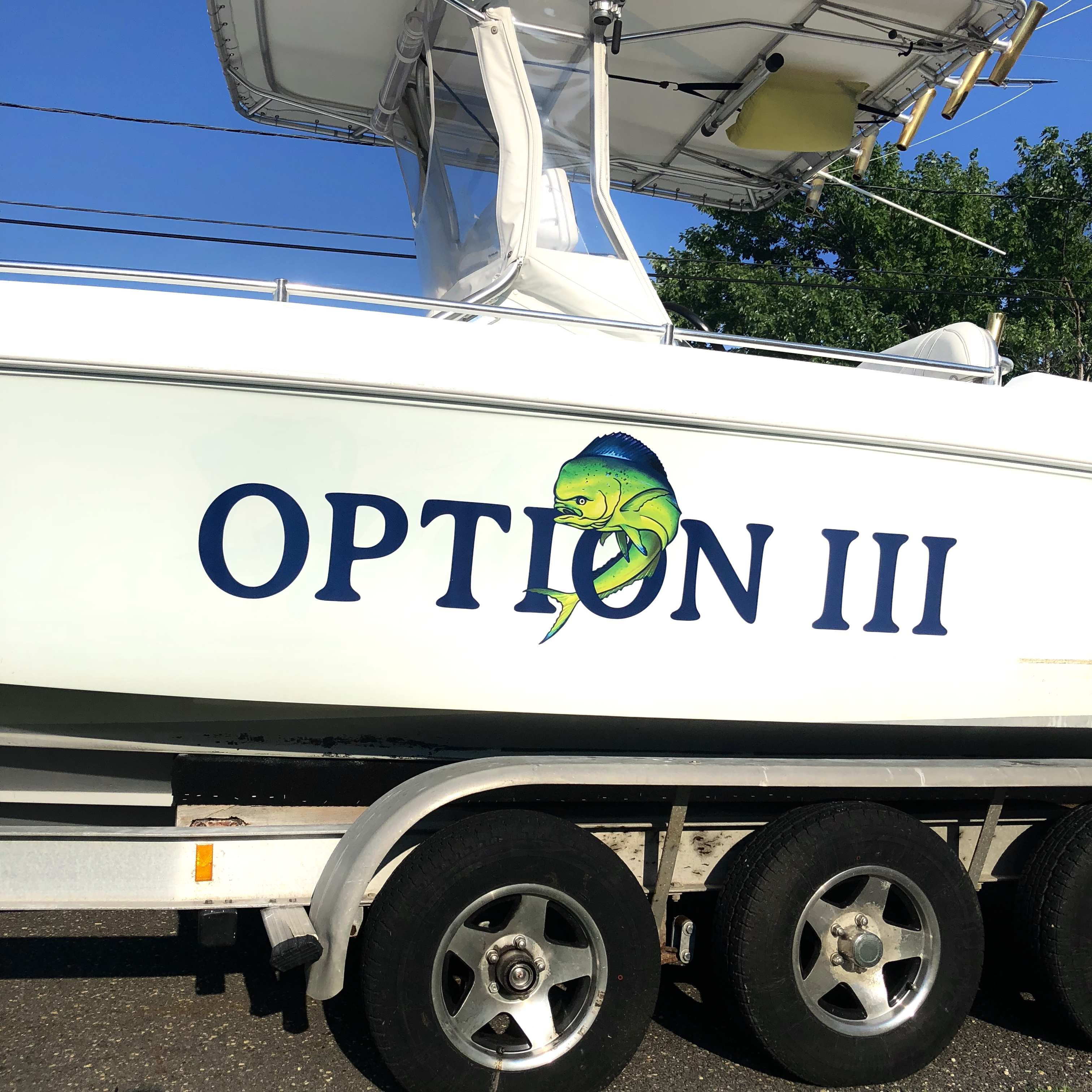 Full Color Die-Cut Boat Name Vinyl