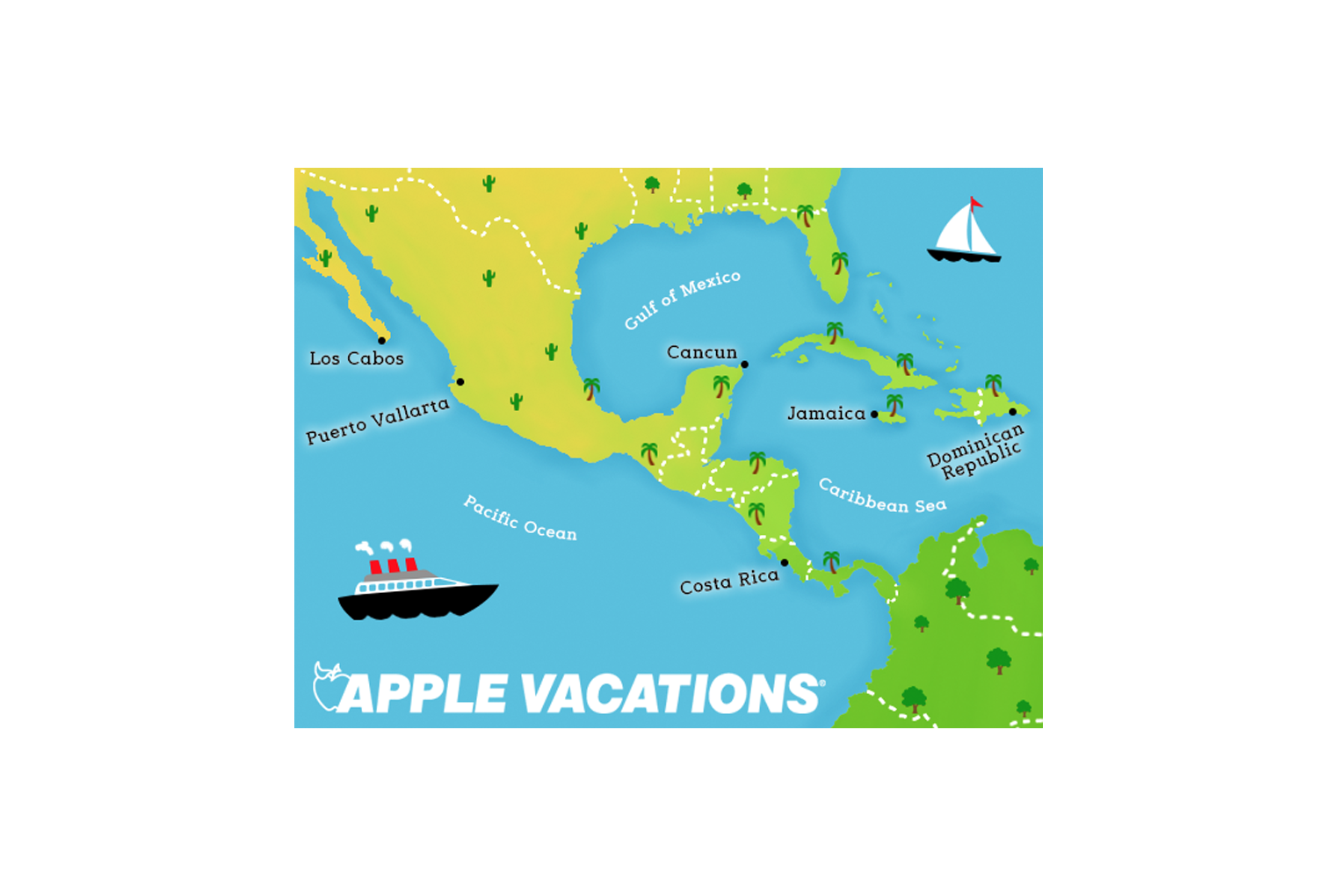 Interactive Map Ad - Apple Vactions
