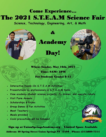 science fair A Day poster writing change