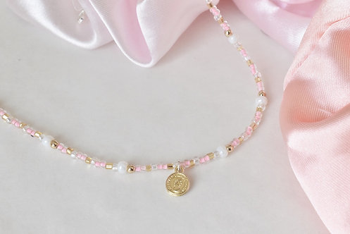 Pinki coin necklace