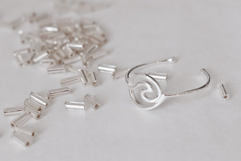 Silver wavey ring