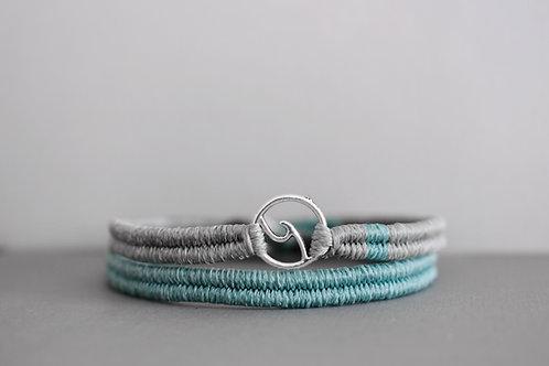 Wavey double bracelet