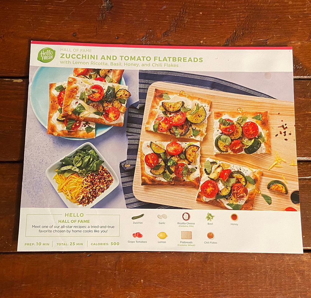 Zucchini and Tomato Flatbread recipe from HelloFresh