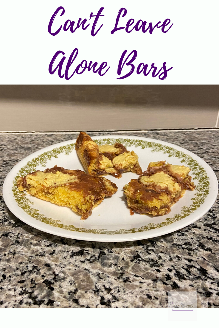 "The name ""Can't Leave Alone Bars' fits perfectly for these cookie bars."