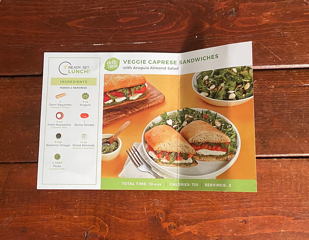Veggie Caprese Sandwich from HelloFresh
