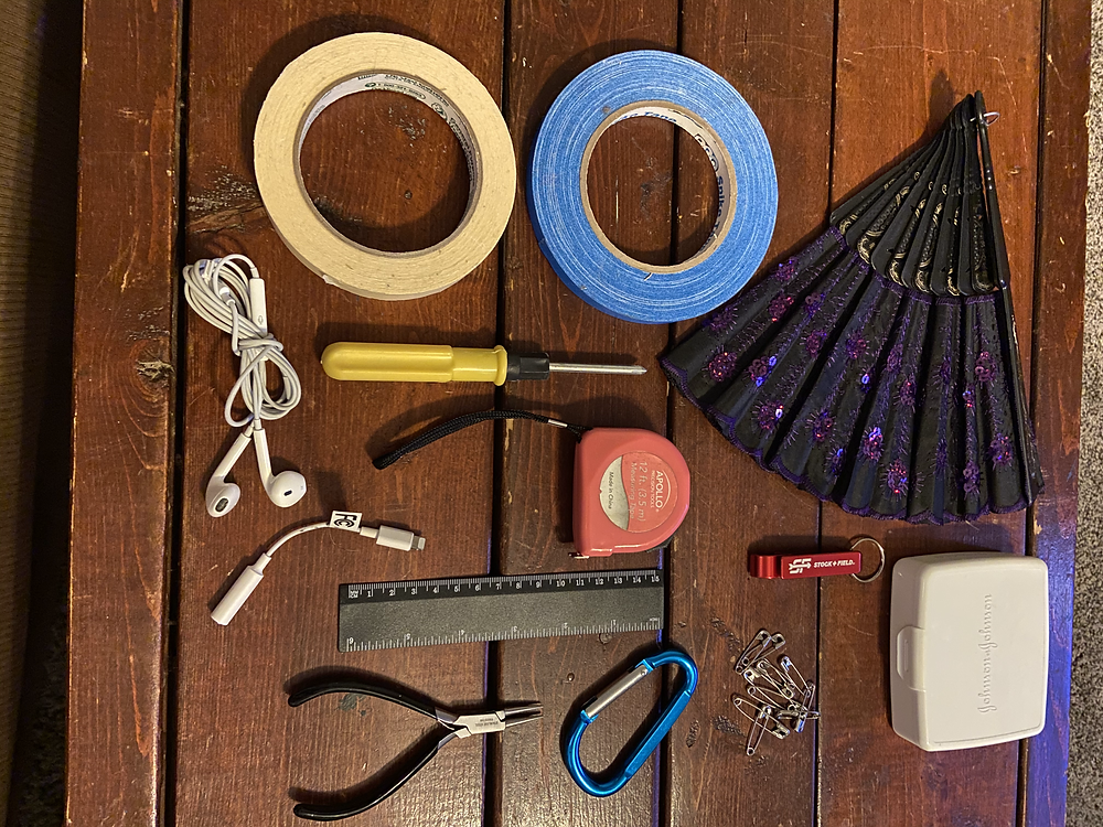 Stage manager kit tools for theatre