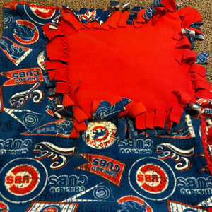 no-sew tie fleece fabric blanket