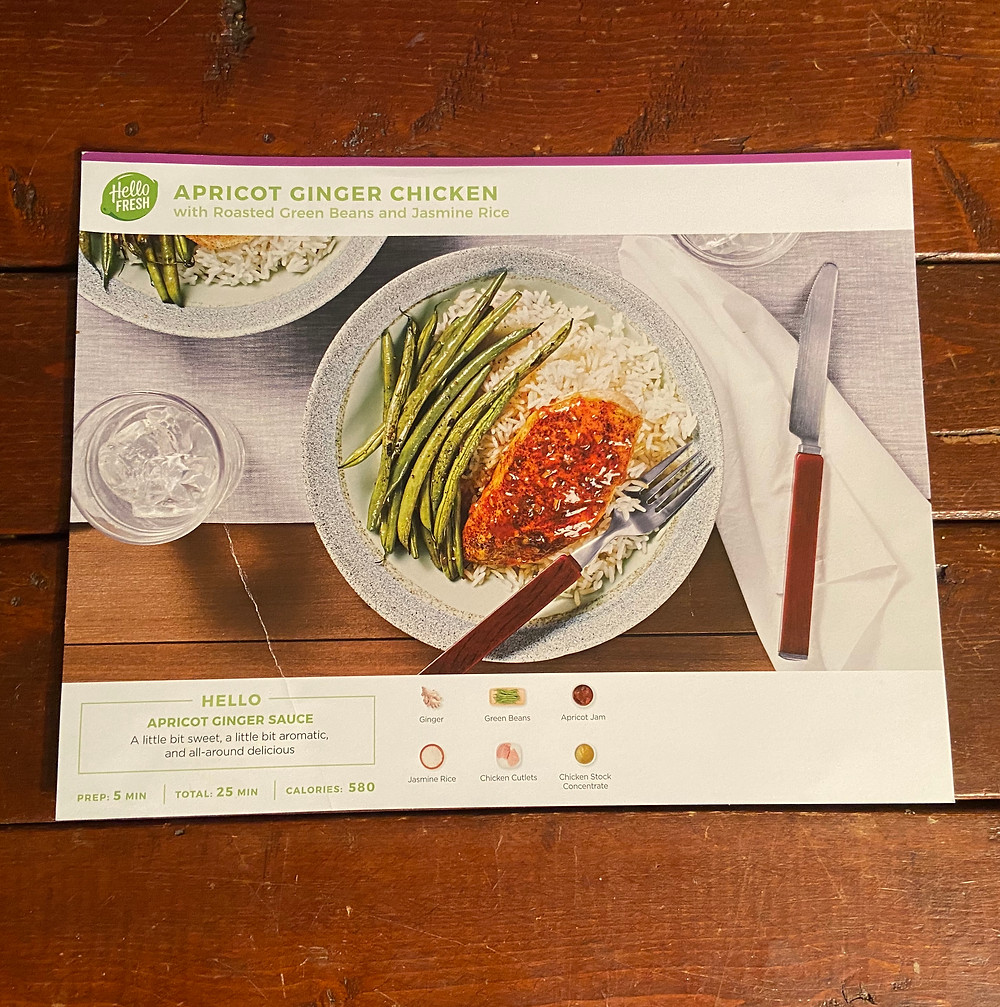 Apricot Ginger Chicken recipe from HelloFresh