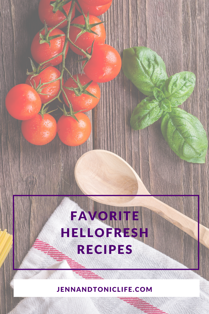 Favorite recipes from HelloFresh, a food subscription box