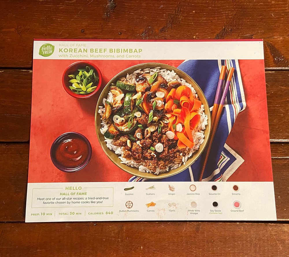 Korean Beef Bibimbap recipe from HelloFresh