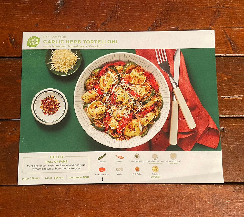 Garlic Herb Tortellini recipe from HelloFresh
