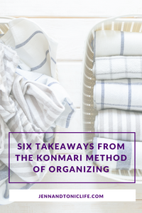Not every strategy from the KonMari Method of organizing works for everyone, but you should discover what works for you.