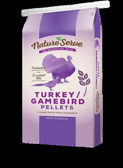 NatureServe TurkeyGamebird Pellets_40 lb